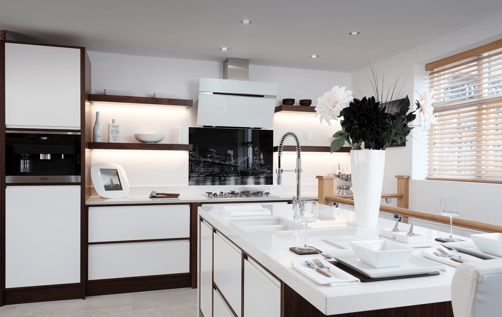 white manhattan kitchen